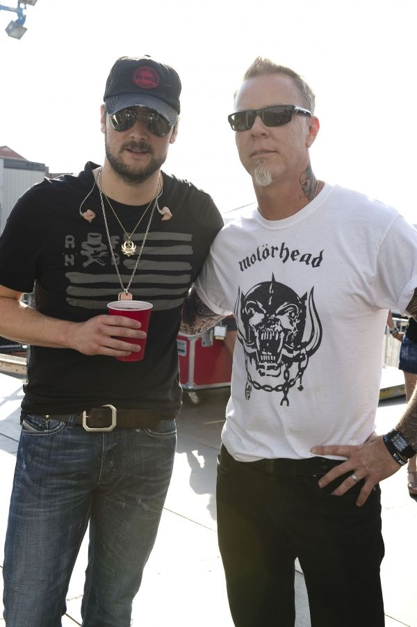 If you don't know who these two are, you need help.    (EC with James Hetfield from the Orion Music fest, NJ 2012)  Both masters of their craft.