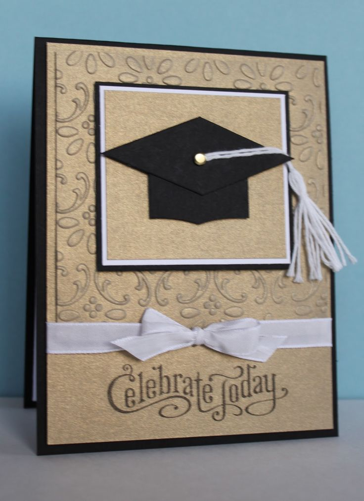 handmade graduation card ... clean and simple kraft with black and white ... punch art graduation cap ... Celebrate Today ... Stampin' Up!