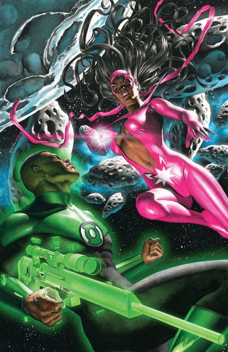 Linterna Verde John Stwart contra la Zafiro Estrella Fatalidad (Yrra Cynrill)