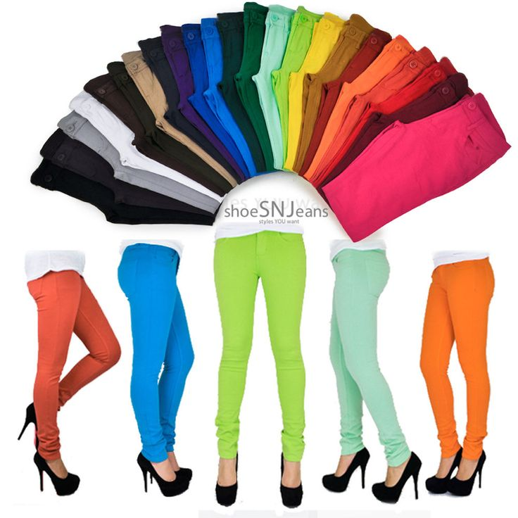 Women Skinny Colorful Jeggings Stretchy Sexy Pants Soft Leggings Pencil Tights #Unbranded #Jeggings