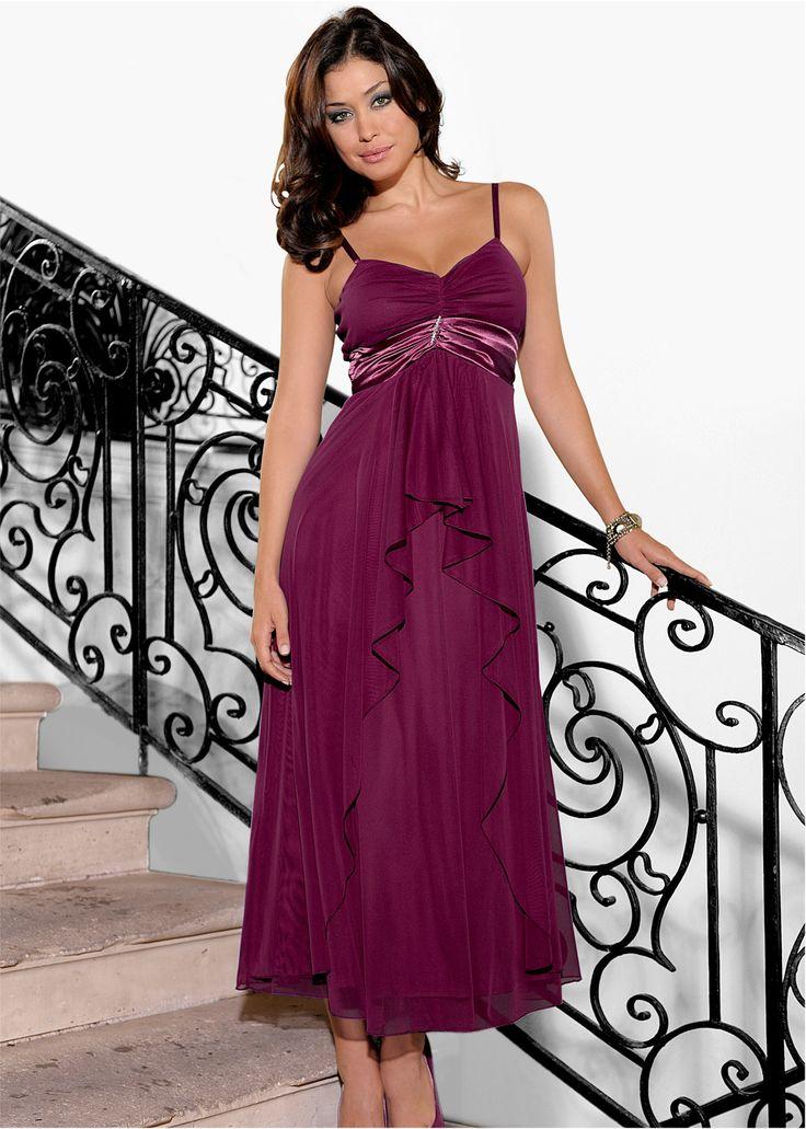 Maxikleid beere - BODYFLIRT jetzt im Online Shop von bonprix.de ab ? 39,99 bestellen. Elegantes Abendkleid mit Brosche unter der Brust.