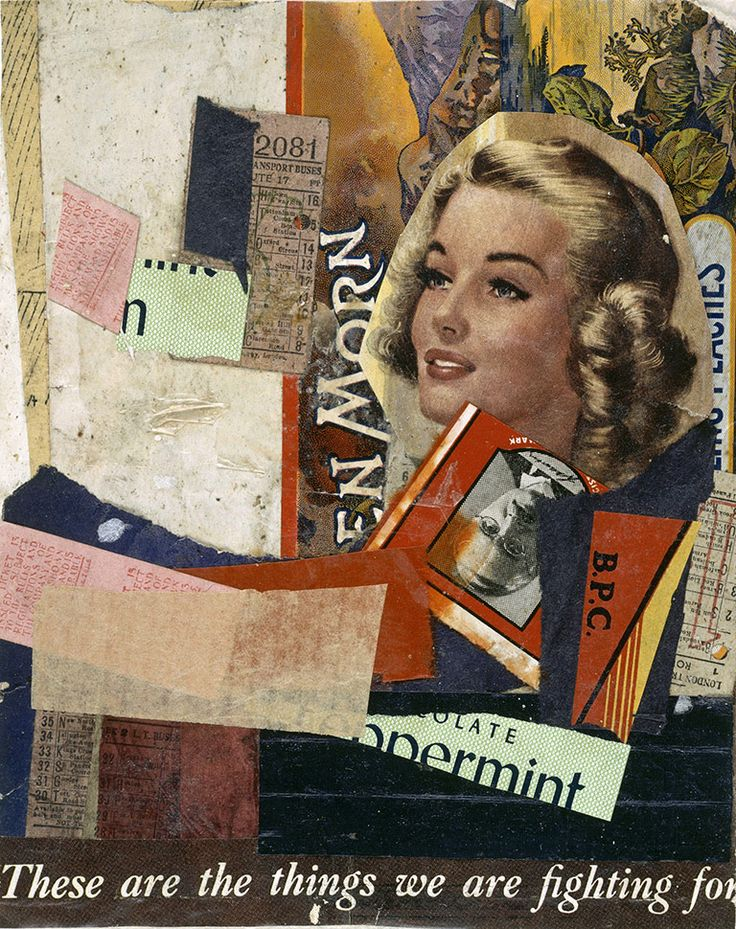 Kurt Schwitters collages    En Morn, 1947. His collages using magazine cuttings, found objects, sweet wrappers etc paved the way for pop art and arte povera  © Centre Georges Pompidou, Paris/DACS 2012