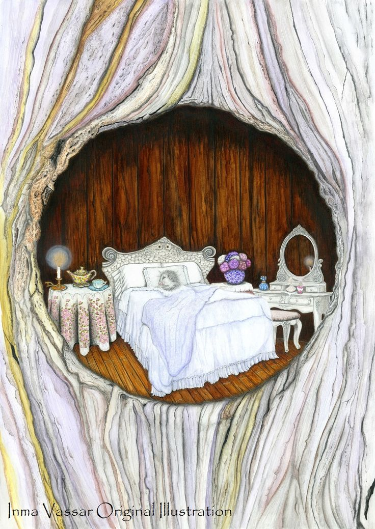 Possum's Retreat- Sweet Dreams- Water colour Illustration by Inma Vassar