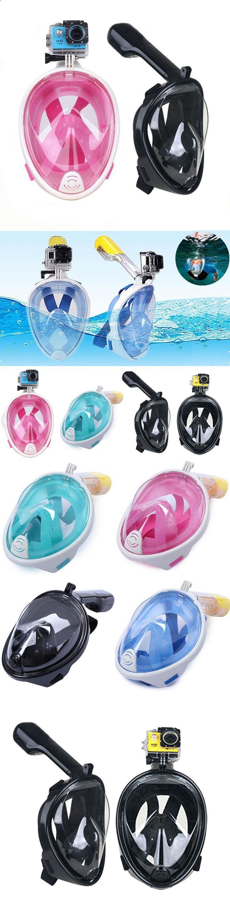 Masks 71161: New 180° Swimming Full Face Mask Surface Diving Snorkel Scuba For Gopro Camera -> BUY IT NOW ONLY: $31.99 on eBay! http://www.deepbluediving.org/scuba-wetsuit-vs-drysuit/