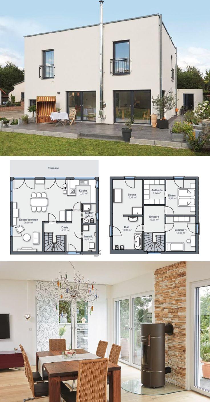 Einfamilienhaus Im Bauhausstil Mit Flachdach-Architektur