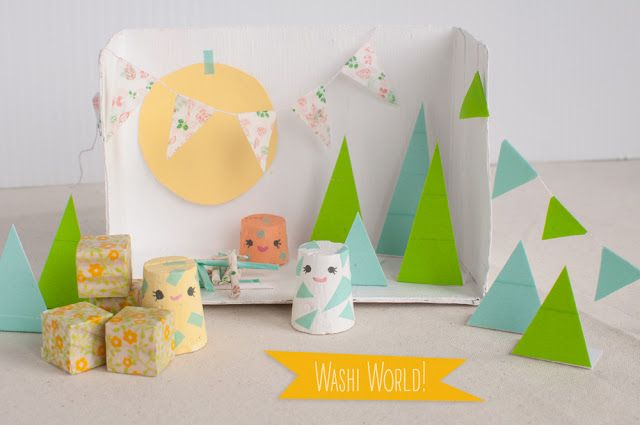 Make your own Washi World!  Tutorial via: http://rhya.blogspot.ca/2016/02/washi-world.html  #Washi #crafty #craft #WashiTabe #diorama