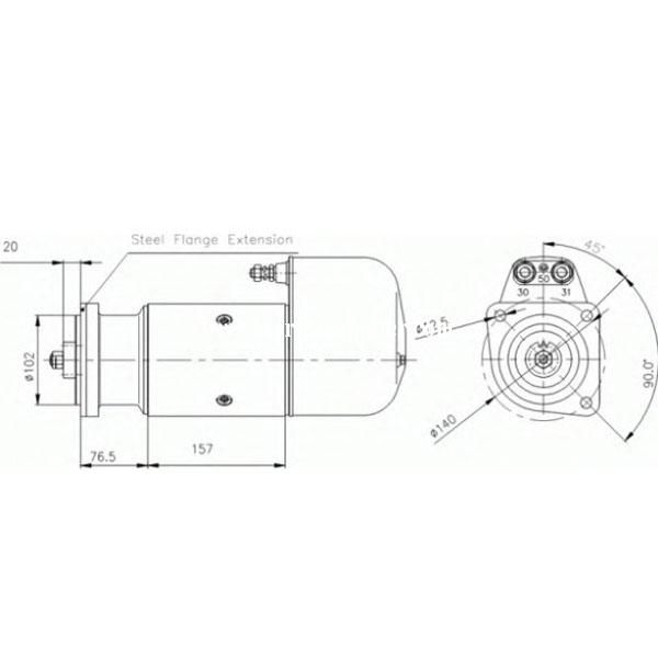 starter motor 19024184 for delco remy