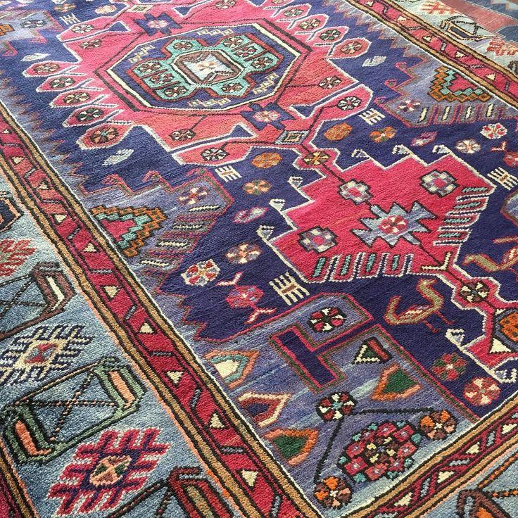 Sunlight on a Persian Hamadan rug.  #wool #colours #bohodesign #bohointerior…