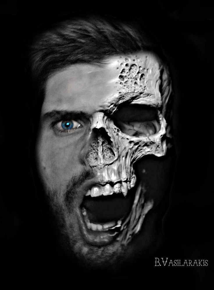 Photoshop Skull Face  ~yi yang ~dead or alive karma