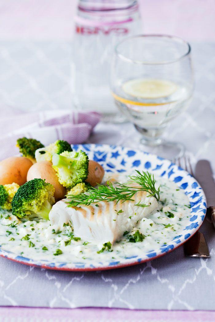 Torsk med grön äggsås | MåBra - Nyttiga recept