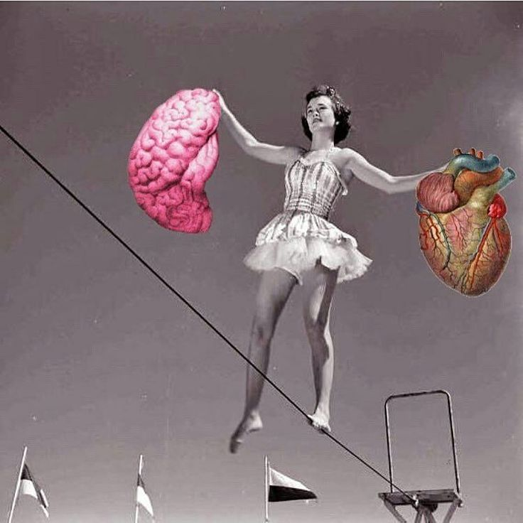 Find the balance...  (Collage by Gary Hoang)  art, arte, cuore, cervello, quilibrio, heart, brain