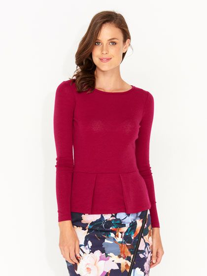 Merino Wool Layer Peplum