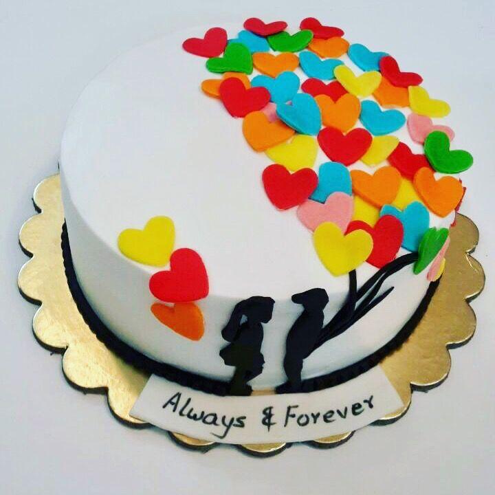 Anniversary cake- love forever