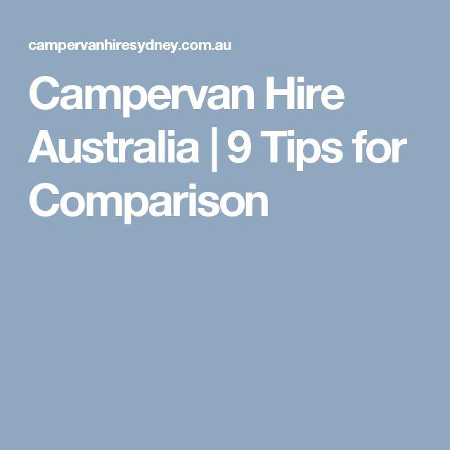 Campervan Hire Australia | 9 Tips for Comparison