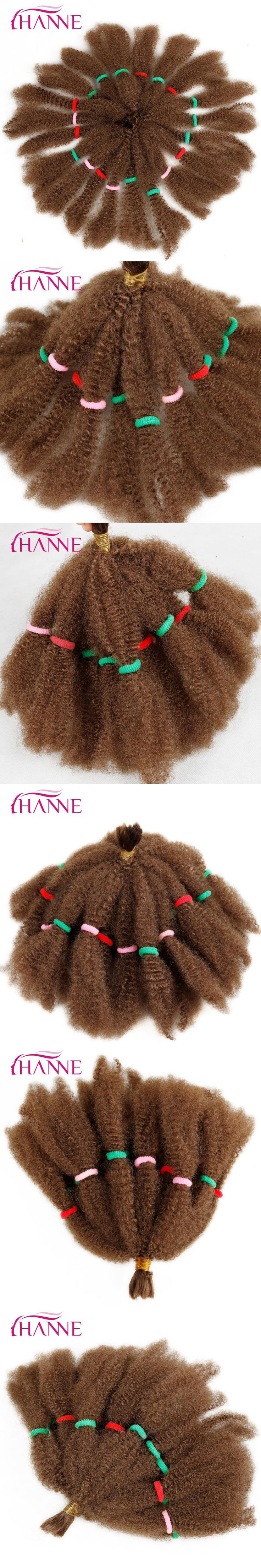 HANNE Afro Extensions Bulk Hair Small Kinky Curly 12Inch Blonde Or Ombre Mixed 1B#BUG Pre Braided Hair Extension Synthetic Weave