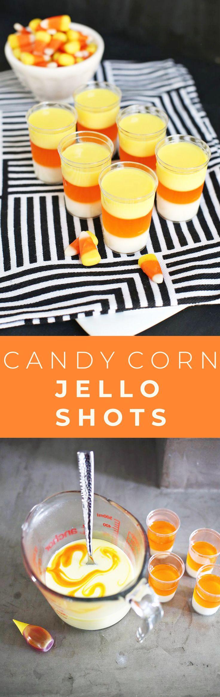 Candy corn jello shot recipe!