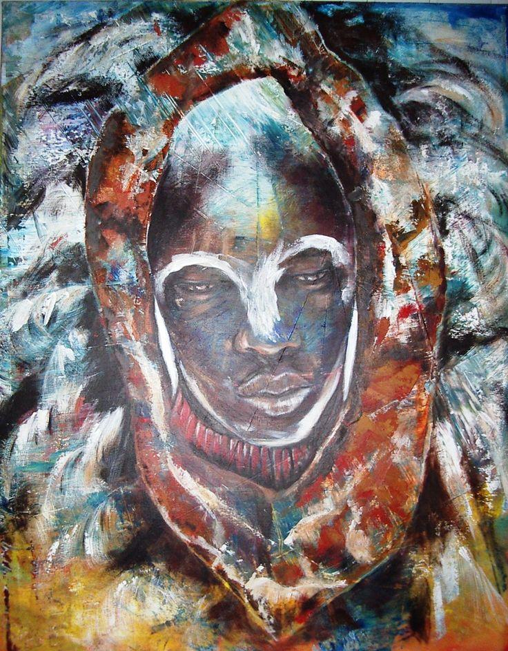 Marij Hendrickx. Masai krijger uit Kenia. Afrikaanse stammen hebben op mij een grote aantrekkingskracht door hun uitstraling van trots en kracht.