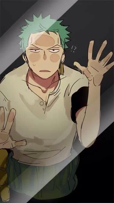 Zoro; maybe he's lost again. ..