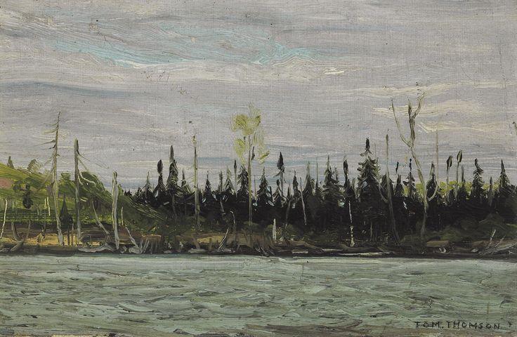 Tom Thomson Catalogue Raisonné | Canoe Lake, Algonquin Park, Fall 1916 (1916.130) | Catalogue entry