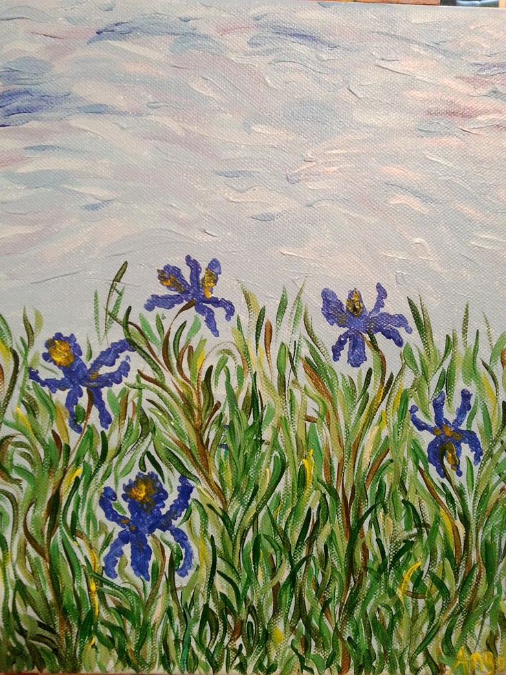 My irises.  Sold for charity :)