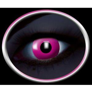 Pink UV Kontaktlinser. Super seje kontaktlinser til ravefester, disco, 80'er og mange andre fester med UV lys.De lyser i nærheden af uv lys og giver en hel unik oplevelse for alle der ser dig. #kontaktlinser #uv