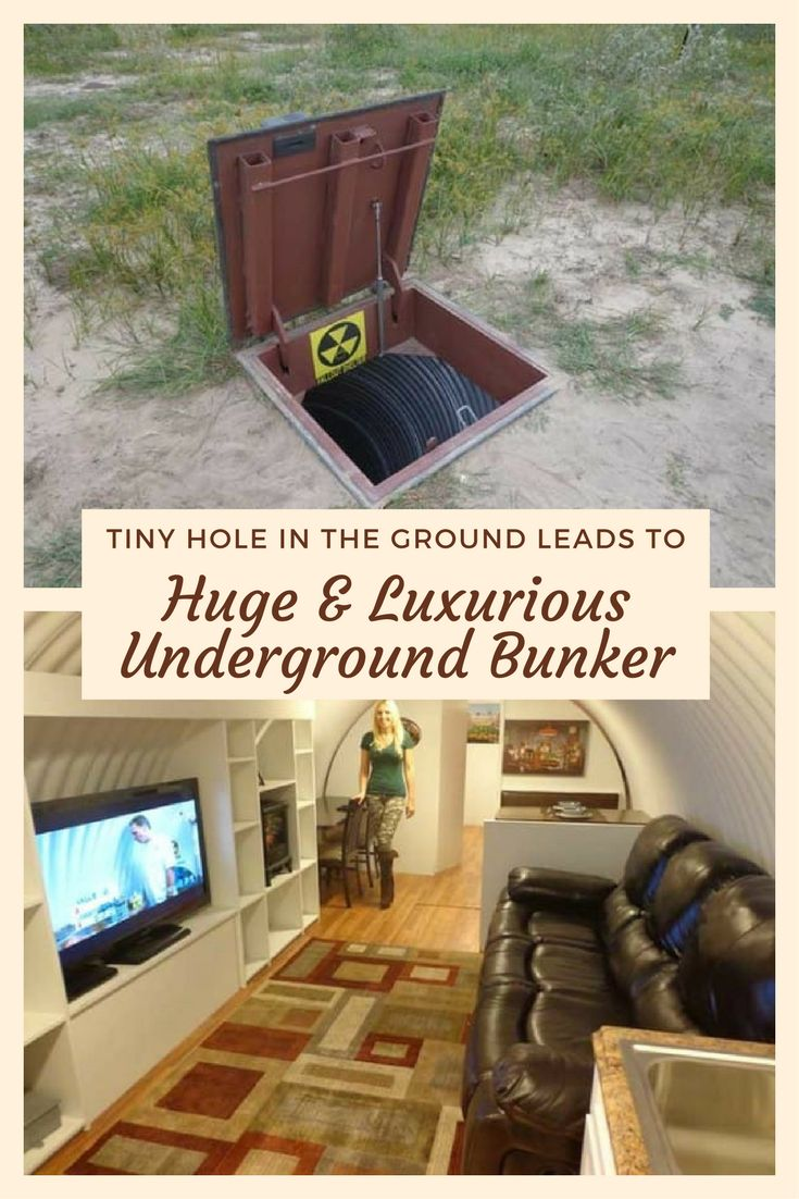 Tiny Hole In The Ground Leads To Huge And Luxurious Underground Bunker - I never would have guessed this was inside! Would you live in a bunker like this?