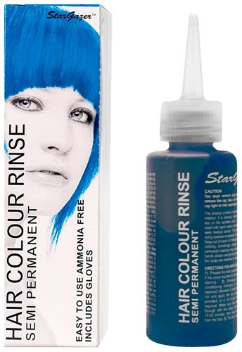 coloration stargazer coral blue teinture bleue cheveux semi permanente pour une - Coloration Semi Permanente Bleu