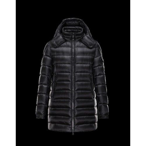 Moncler DUSTIN Detachable Hood Turtleneck Sort Vinter Jakker Techno Fabric Herre 41456791AA