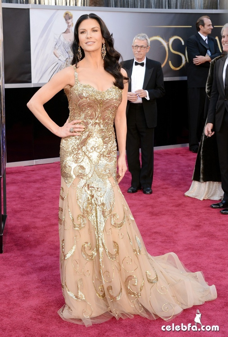Catherine Zeta-Jones Oscars 2013 Red Carpet