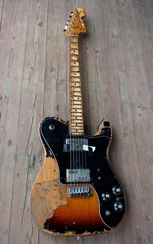 Telecaster hard life, My Tele custom is a 1972 model identical to this, except mine is in better condition, love it :)