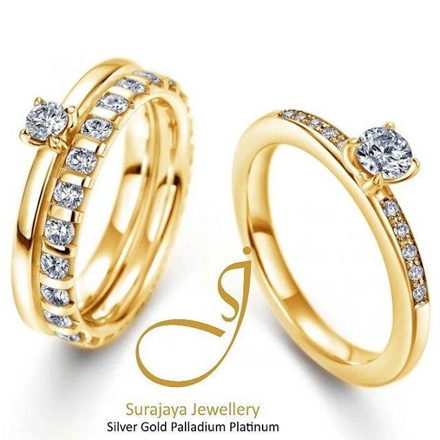 @surajayajewellery siap membantu mempersiapkan bekal  cincin nikah cincin couplenya Kak! Harga mulai 550rb sepasang   Tersedia bahan Emas - Palladium - Platinum - Silver dan Minggu ini Free Berlian Eropa Senilai 1,5 Jt Lho Kak !!  .