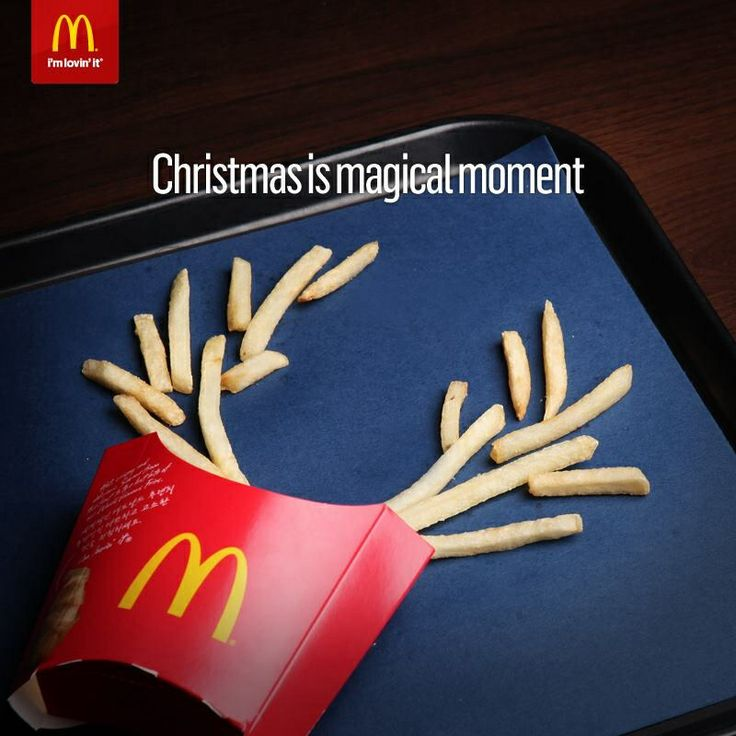 McDonalds ad. Christmas is magical moment.