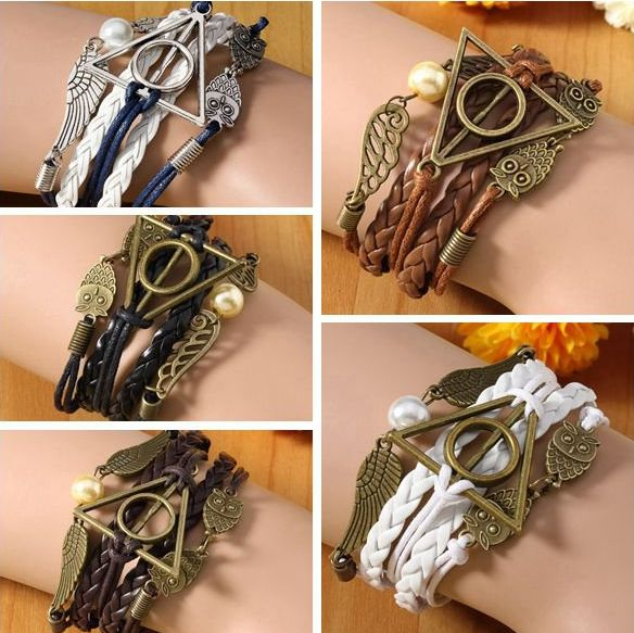 Vintage Owl Wings Triangle Pearl Multilayer Braided Leather Bracelet Free shipping worldwide  for only 5.99 usd order here: http://www.gotclicks1.com/Paj5TTkgTys9