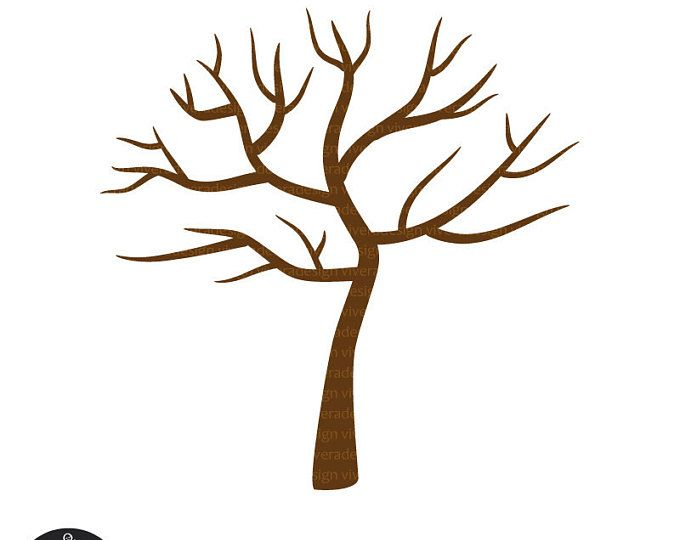 Digital Clip Art Tree With No Leaves Winter Tree Thumb Etsy In 2021 Tree Printable Free Tree Drawing Simple Bare Tree