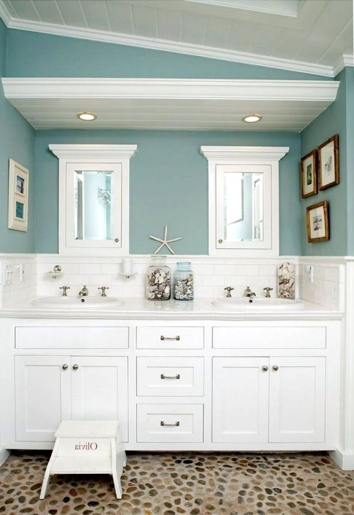 Beach Bathroom Paint Colors In 2020 Beach Bathroom Decor Beach House Bathroom Beach Theme Bathroom