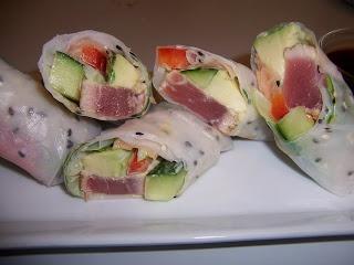 Fresh Tuna Rice Paper Wraps