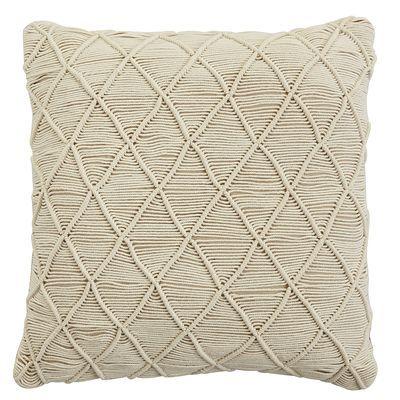 Natural Macrame Pillow