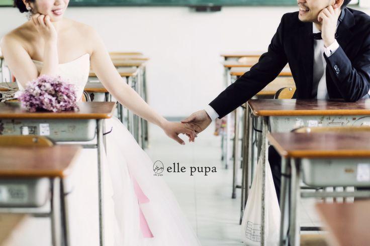 お2人の出会った母校で*学校前撮り |*elle pupa blog*