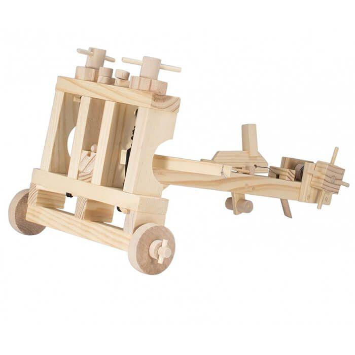 Mechanisch houten bouwset ballista
