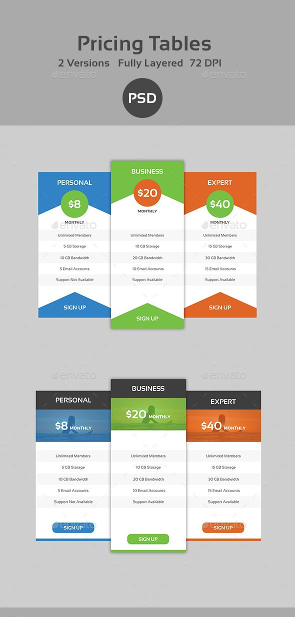 23 best Web Elements images on Pinterest Pricing table, Font - price chart template