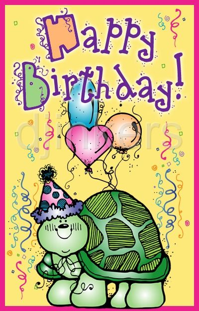 Happy Birthday turtle card