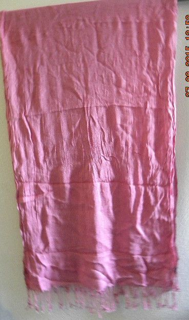 New Large long  plain pink Scarfe / Shawl By Moodys 100% Viscose