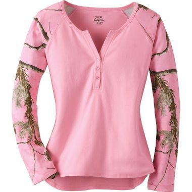 Cabela's Women's Camo Long-Sleeve Henley at Cabela's