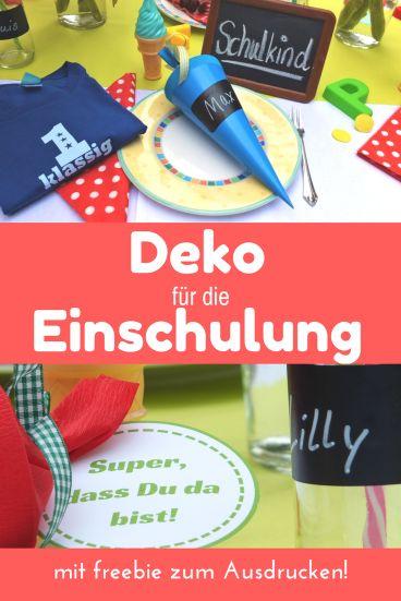Einfache Deko Ideen zu Einschulung und Schulanfang! So gelingt die Einschulungsfeier für das Schulkind! http://ersteklasse.org/einschulungsfeier/deko-fuer-die-einschulungsfeier/ #schulanfang #deko #einschulung #dekoideen #einschulungsfeier #tischdeko