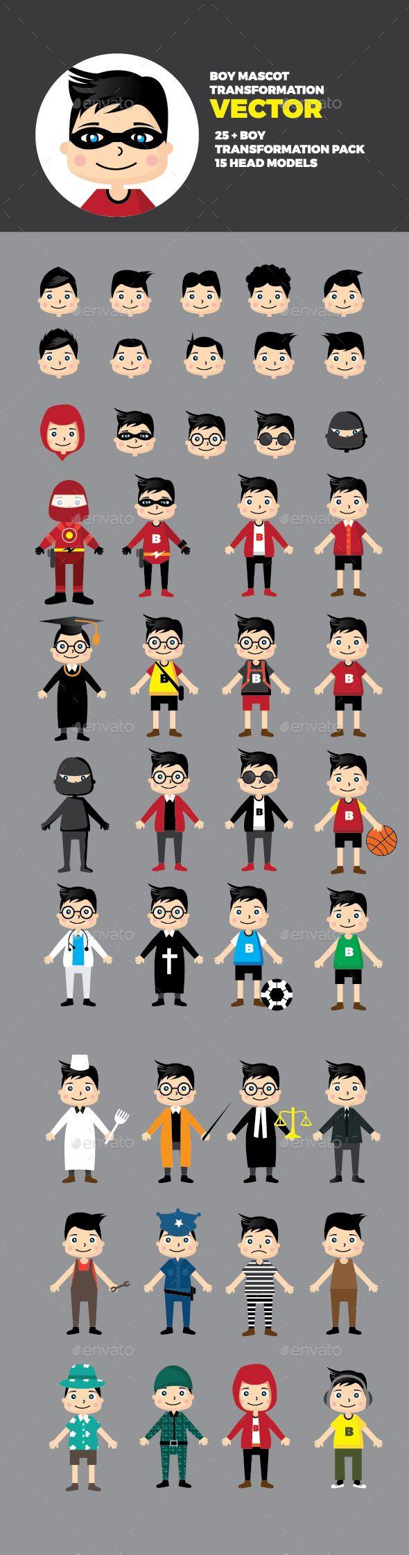 28 Boy Mascot Pack