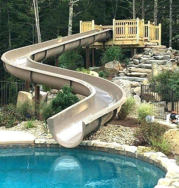 Water Slide Goals By Paradise Slides Homes Mansion