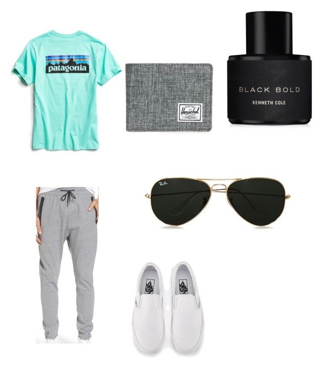 """kyla made"" by bradly-beaty ❤ liked on Polyvore featuring Kenneth Cole, Zanerobe, Patagonia, Vans, Herschel Supply Co., Topman, men's fashion and menswear"
