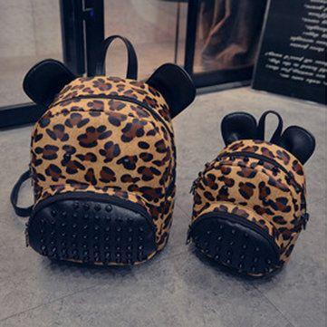 Ms. Shoulder Bag Leisure Leopard Backpack Campus Students Style Handbags School Bags Online - NewChic