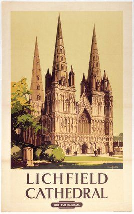 'Lichfield Cathedral', British Railways poster, 1948.
