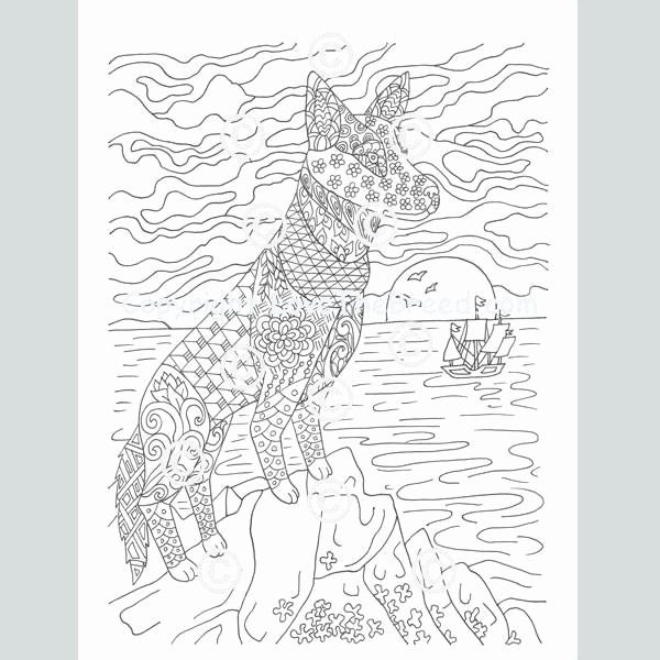 German Shepherd Coloring Page Luxury German Shepherd Coloring Book For Adults And Children German Shepherd Colors German Shepherd German Shepherd Tattoo